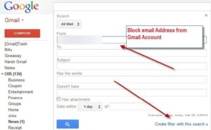 Block Address from Gmail Account