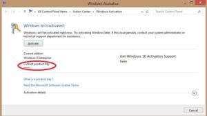 Activation Errors of Windows 10