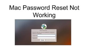 Mac Password Recovery or Reset support