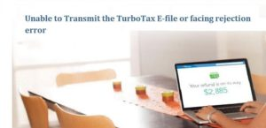 Unable to Transmit the TurboTax