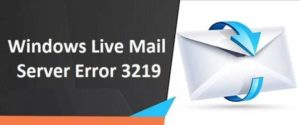 Windows Live Mail Server Error help